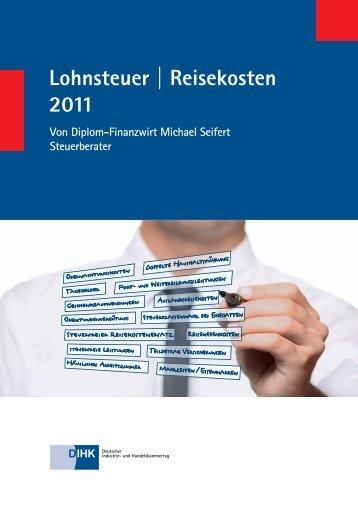 Lohnsteuer | Reisekosten 2011
