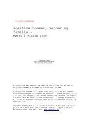 Positive homser, venner og familie - - Hiv-Danmark