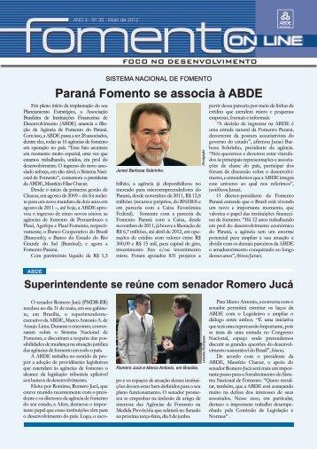 Fomento On Line nº 35 Maio 2012.cdr - Abde