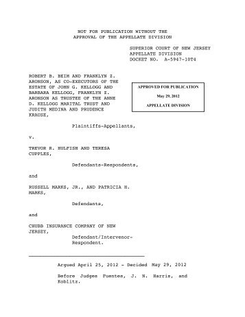 Beim v. Hulfish - Appellate Law NJ Blog