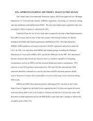 EPA APPROVES STARTUP, SHUTDOWN, MALFUNCTION RULES