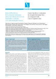 Stima dell'incidenza del carcinoma mammario attraverso il flusso dei ...
