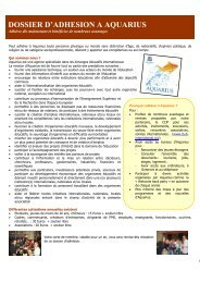 Formulaire d'adhésion au Centre Aquarius