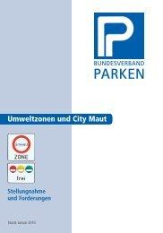 Umweltzonen und City Maut - Bundesverband Parken