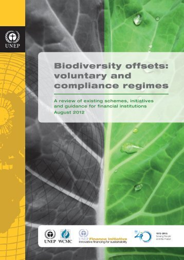Biodiversity offsets: voluntary and compliance ... - Constant Contact