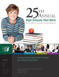 25ANNUAL TH - Southern Regional Education Board
