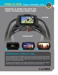 Cybex E3 View - Exercise. Entertainment. Escape.