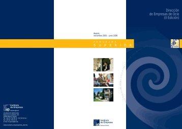 Dirección de Empresas de Ocio (II Edición) - IE Executive Education
