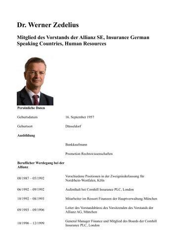 Dr. Werner Zedelius Mitglied des Vorstands der ... - EBS Symposium