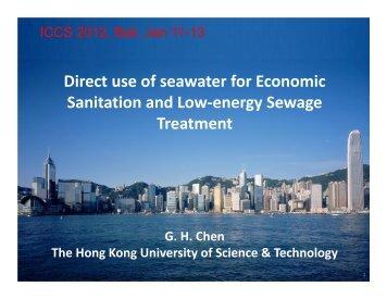 Seawater Toilet Flushing