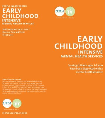 Early Childhood Intensive Mental Health Services Brochure - People ...