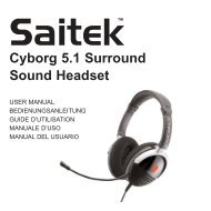 Cyborg 5.1 Surround Sound Headset - Saitek
