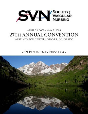 09 Preliminary Program - Society for Vascular Nursing
