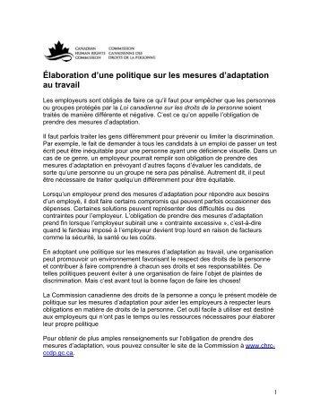 Télécharger - Commission canadienne des droits de la personne