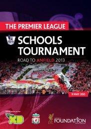 PL Schools Tournament Programme 2013 - Premierleague.com
