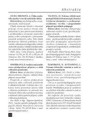 Abstrakta - Univerzita Karlova