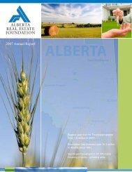 2007 Annual Report - Alberta Real Estate Foundation