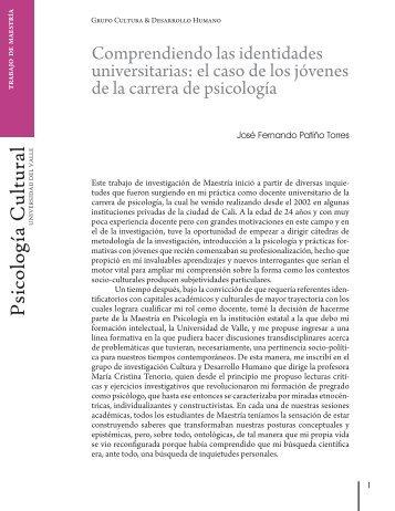 Comprendiendo las identidades universitarias: el caso de los ...