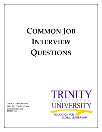 Common Job Interview Questions  Common Interview Questions