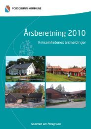 ÅRSBERETNING 2010 - Porsgrunn Kommune