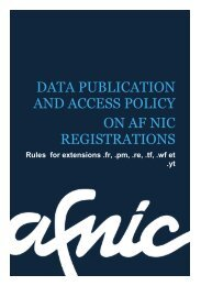 Download Data publication and access policy registrations as ... - Afnic