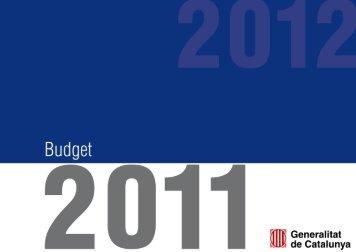 2011 Budget - Generalitat de Catalunya