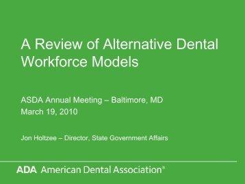 A Review of Alternative Dental Workforce Models - Institute for Oral ...