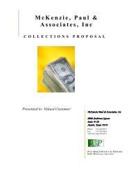 COLLECTIONSPROPOSAL McKenzie, Paul & Associates, Inc ...