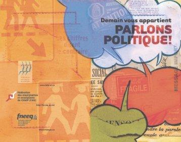 Demain vous appartient - Parlons politique - Fédération des ...