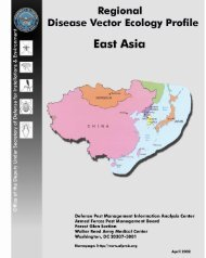 East Asia Disease Vector Ecology Profile - Armed Forces Pest ...