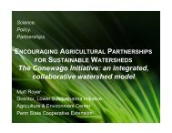 Encouraging Agricultural Partnerships for Sustainable Watersheds
