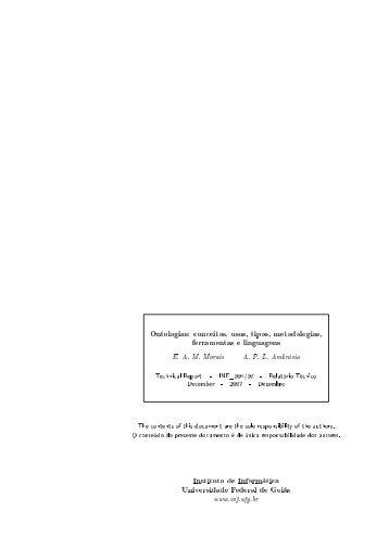 Ontologias: conceitos, usos, tipos, metodologias, ferramentas e ...