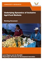 Underlying Dynamics of Inclusive Agri-Food Markets - Seas of ...