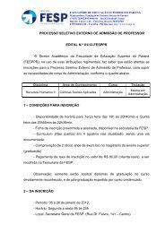 Edital 01-2012 - FESP