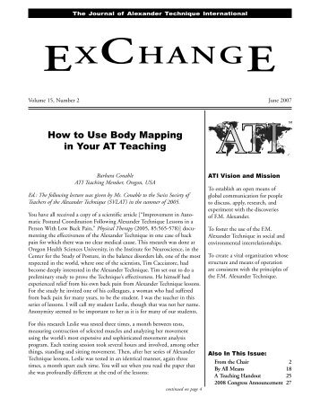 How to Use Body Mapping in Your AT Teaching - Alexander ...