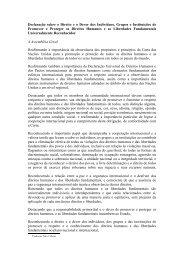 Declaração sobre o Direito e o Dever dos Indivíduos ... - DHnet