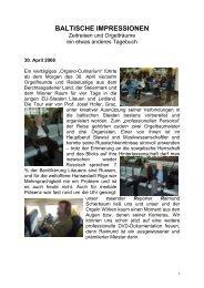 Baltische Impressionen - als PDF - Orgelbau Walcker-Mayer