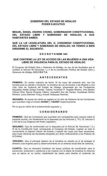 GOBIERNO DEL ESTADO DE HIDALGO PODER ... - CONAVIM