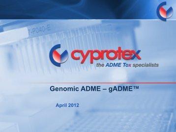 Genomic ADME - gADME™ - Apredica