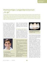 """Hochwertiges Langzeitprovisorium """"to go"""""""