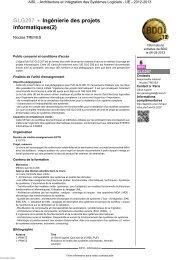 GLG207 - Ingénierie des projets informatiques(2) - Cnam