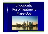 Interappointment Flare-ups