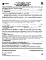 BUYER REPRESENTATION AGREEMENT (Exclusive Right to ...