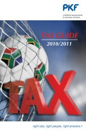 Tax Guide 2010 - PKF South Africa