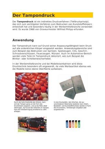 Der Tampondruck - Werbedesign