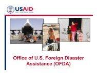 Presentation: USAID OFDA - Fritz Institute