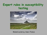 Expert rules in susceptibility testing - eucast