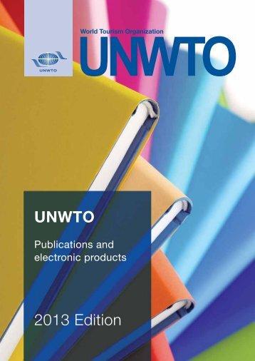 UNWTO 2013 Edition - Organización Mundial del Turismo