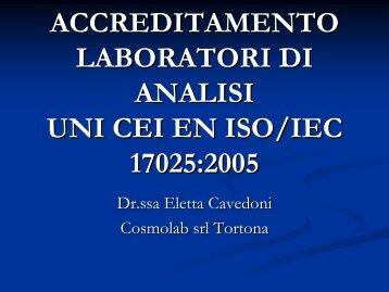 UNI CEI EN ISO/IEC 17025:2005