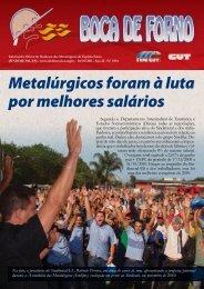 Metalúrgicos foram à luta por melhores salários - CNM/CUT